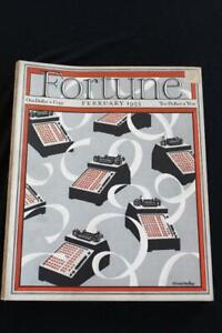 VERY RARE FEB 1933 FORTUNE MAGAZINE CIGAR WRAPPERS VERY GOOD CONDITION