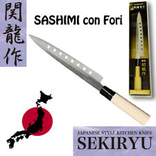 Coltello Originale Giapponese Sushi Sashimi con Fori  SEKIRYU  acciaio INOX