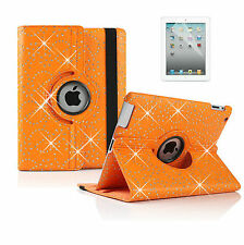 New Leather 360° Rotation Flower Case Cover for Apple iPad 2 3 4 Air Mini Air 2