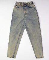 LEE Vintage 80s 90s ACID Wash Stonewash HIGH WAISTED New Wave JEANS 7 Boho E83