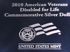 2010-W American Veterans Disabled for Life Silver Dollar UNC