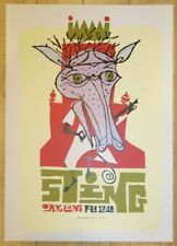 2004 Sting - Oakland Silkscreen Concert Poster S/N by Jeff Kleinsmith Smokestack