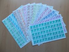 More details for benin - 2000 birds. set of 12 complete cancelled to order sheets of 99 stamps.