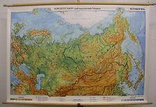 Schulwandkarte Wandkarte Karte Sowjetunion Russland Karte map 158x107 vor1990