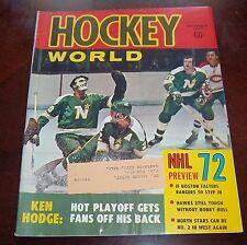 Hockey world October  1972   Mnnesota North Stars NHL Preview 72