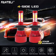 2018 1800W 270000LM LED Headlight KIT H4 9003 HB2 High/Low Beam 6000K White Pair