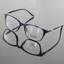 New Retro Computer Glasses Reading Eyewear Black Frame Acrylic Lens Plano UV8211