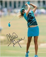 ALEXIS LEXI THOMPSON  LPGA GOLF  ACTION SIGNED 8x10