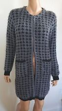 NWT SAVE THE QUEEN Gray Wool Blend Heavy-Knitted CARDIGAN Sweater XS ITALY