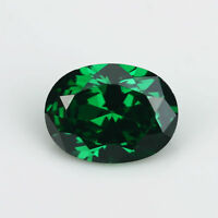 Natural Mined Colombia Green Emerald 8x10mm 4.16ct Oval Cut VVS AAA Loose Gems