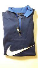 NIKE Men's Navy Blue Long Sleeve Pullover Sweater Shirt Size Large L Big Logo