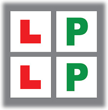 2 x L Plate Sticker & 2 x P Plate Stickers Learner Driver Pack Car Legal Vinyl