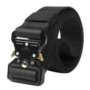 Casual Military Tactical Belt Men's Army Combat Waistband Rescue Outdoor Belts