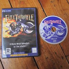 Full Throttle Classic Lucas Arts Tim Schafer Windows PC CD ROM Game Free UK P+P