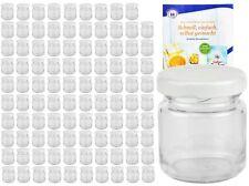 100 Mini Sturzgläser 53ml weiß Portionsgläser Einmachgläser Marmeladengläser