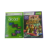 Xbox 360 Two Game Bundle Xbox Live Arcade Kinect Adventures