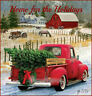 NEW! Vintage Christmas Home for the Holidays Red Truck 1 Print on Fabric FB 345