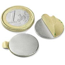 Super Magnete Disco in Neodimio AUTOADESIVO 20 x 1 mm. 1 Kg. COLLA 3M (467)