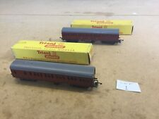 Triang TT Coaches X2 Boxed Brake And First Class Suburban Maroon