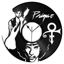Prince Vinyl Wall Clock Record American Pop Songwriter Musician & Actor Decor
