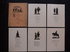 Konewka Paul Album 6 Silhouetten erfunden und geschnitten  Paul Konewka de 1872