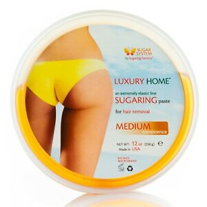 """Sugaring paste MEDIUM 12oz ALL BODY PARTs paste for hair removal """"Luxury HOME"""""""