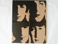 Beatles Painted Canvas Wall Hangings / Wall Art - Set of 4