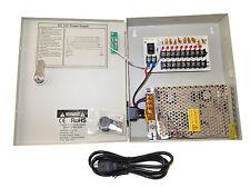 Power Supply Box CCTV CCD Camera 9 Port 12V DC