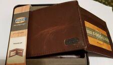 """Completamente Nuevo Fossil """"acercamiento viajero"""" de Cuero para Hombre cartera Triple En Caja Original"""