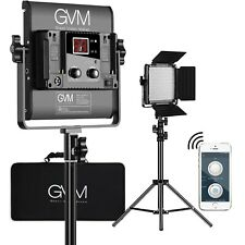 Gvm Led Video Studio Photography Lighting Kit 2 Packs Panels Tripod Wireless App