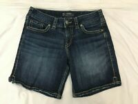 (*-*) SILVER * Womens SUKI SHORT Blue Jean / Denim Shorts *  Size 28 / 6