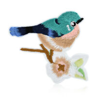 2PCS Flower Birds Embroidery Applique Cloth DIY Sewing & Iron on Patch Badge New