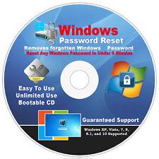 #1 BEST Windows Password Reset Recovery Remove CD Windows XP, VISTA, 7, 8.1 & 10