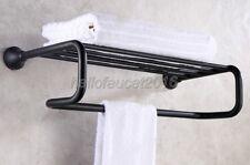 Oil Rubbed Bronze Wall Mount Bathroom Accessories Shelf Towel Rack Holder lba851