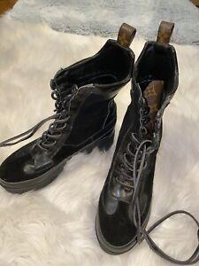 Luxury combat Leather boots (women's size 37) 6.5-7