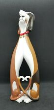 "2003 Toni Goffe Figurine, Hot Dogs, A3693 ""The Snuggle"", Ella & Louis, Dachshund"