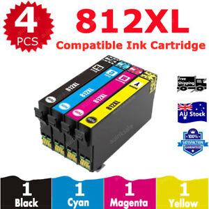 4x 812XL 812 XL Compatible Ink Cartridges For EPSON WF3820 WF3825 WF4830 WF4835