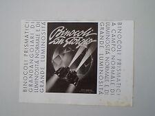 advertising Pubblicità 1940 BINOCOLI SAN GIORGIO
