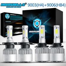 4x Combo 9003 H4 9006 HB4 LED Headlight Kit High Low Beam Fog Light 6500K Toyota