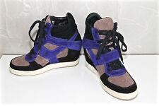 sneakers compensés scratch daim bleu noir ASH LIMITED pointure 39 EXCELLENT ÉTAT