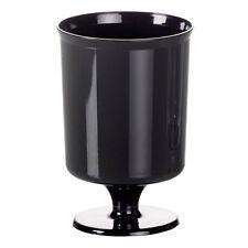 240 x Small Black Plastic Wineglasses 5.6oz (Disposable Party) [5055202123281]
