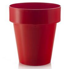 20cm FIORI Porto Rosso Fioriera/Contemporanea Round Vaso di fiori/casa/giardino/Container