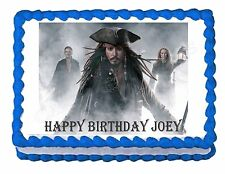 PIRATES OF THE CARIBBEAN JACK SPARROW party edible cake image cake topper