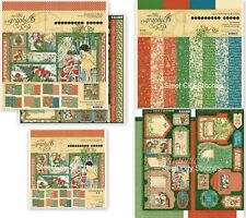 "Graphic 45 Christmas Magic Collection Pack + 12"" & 8"" Paper Pads + Tags/Pockets"