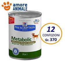 12 confezioni Hill's Prescription Diet Metabolic 370 gr - umido cane cani