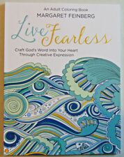 Live Fearless: An Adult Coloring Book & Journal, Christian Bible Scripture Verse