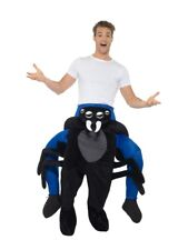 Mens Spider Ride On Me Mascot Fancy Dress Carry Costume Piggy Back Outfit
