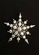 Diamonique QVC Sterling Silver & Cubic Zirconia Snowflake Starburst Pin/ Brooch