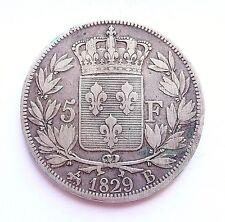CHARLES X 5 francs 1829 B