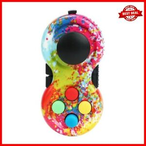 Fidget Pad Toy Classic Game Controller Pad Stress Relief Autism Rainbow Handle